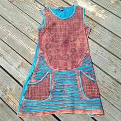 Beautiful dress Worn in good condition no stains or rips, dress made in Nepal bohemian dress Rising international  Dresses Mini