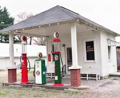 Gas station of the 1920-1930's era.