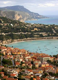Looking east over Villefranche-sur-Mer, Cote d'Azur, France