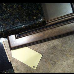 Downstairs bath - countertop, cabinet, flooring tile, paint color