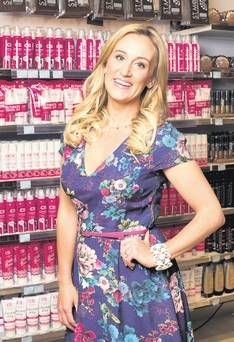 Marissa Carter, creator of the Cocoa Brown range of tanning products, at one of her biggest stockists Pennys on Mary Street in Dublin