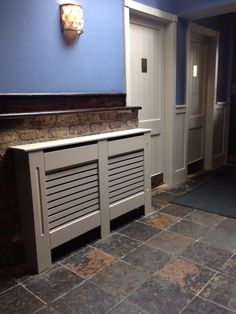 Is your home or apartment heated by old-school radiators? But these radiator units take up considerable wall space and, in many cases, they're unsightly. White Radiator Covers, Modern Radiator Cover, Contemporary Radiators, Traditional Radiators, Wall Heater Cover, Old Radiators, Surface Art, Wall Spaces, Lancaster