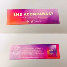 Punto de libro de '¿Me acompañas?' (Urano) de Sergi Torres Sergi Torres, Personal Care, Album, Signs, Invitations, Book, Dots, Self Care, Personal Hygiene