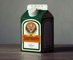 German designer and subsequent foodie visionary Jorn has taken iconic alcoholic brands and reimagined them as milk cartons.