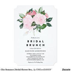 Chic Romance   Bridal Shower Brunch Invitation