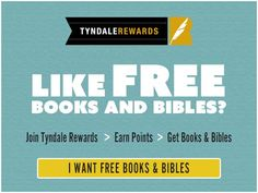 Like free books,Bibles, and contests to win free Christian materials? Join Tyndale Rewards! Enter to win:https://wn.nr/3jUcV3