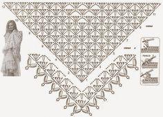 chusta | Kraina wzorów szydełkowych...Land crochet patterns..