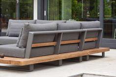 Outdoor Sofa, Outdoor Furniture Sofa, Sofa Design, Furniture Design, Palette Garden Furniture, Metal Sofa, Outdoor Seating, Decks, Home Decor
