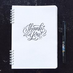 Thank You - Brush lettering by Wink & Wonder                                                                                                                                                     Mais