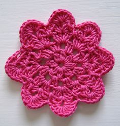 This PDF pattern is a print-friendly, beautifully designed and well-written document that will guide you through the process of making these lovely crocheted coasters. The estimated time of crocheting one coaster is less than 20 minutes for advanced beginners and a bit more if you learn to crochet.