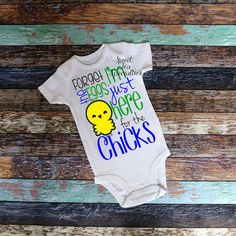 Just Here for the Chicks Boys Easter Shirt. by SweetTeaSpecialties