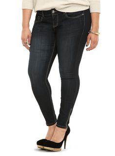 Torrid Ankle Zip Stiletto Jean - Dark Wash (Regular) | Torrid
