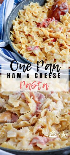 10 Most Misleading Foods That We Imagined Were Being Nutritious! This One Pan Ham and Cheese Pasta Is A Weeknight Winner Ready In Less Than 30 Minutes That Makes Everyone Need Seconds. Switch Up The Pasta, And The Cheese, But Make It Over And Over # Ham And Cheese Pasta, Ham Pasta, Pasta Dishes, Yummy Pasta Recipes, Ham Recipes, Cooking Recipes, Dinner Recipes, Shrimp Recipes, Kitchen Recipes