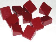 LEGO 10 Dark Red Slopes 30 Degree 1x1x2/3 6866 $1.75