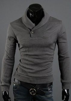 Button Accented Turtleneck