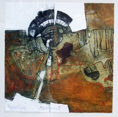 Celestial Timepiece II collograph and carborundum print by Peter Wray