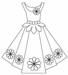 free dress digital stamp set by lorie Embroidery Patterns, Hand Embroidery, Dress Card, Colouring Pages, Paper Dolls, Card Making, Creations, Paper Crafts, Templates
