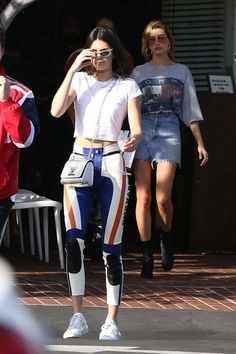 Kendall Jenner And Hailey Baldwin Out Shopping In West Hollywood