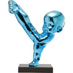 Deco Figurine Kung Fu Boy Kick Blue by KARE Design #blue #blau #kungfu #deco #figure #bleu #KARE #KAREDesign