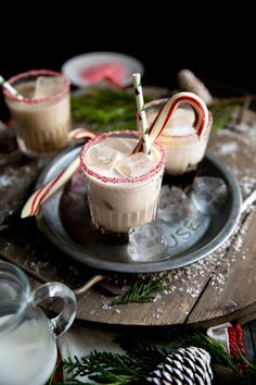 Get festive this holiday season with this super easy Holiday Peppermint White Russian. Made with Kahlúa, Peppermint Schnapps and, of course, Vodka, this delicious cocktail will have everyone singing. If I could get away with lining every single one of my cocktails with some kind of salt or sugar rim
