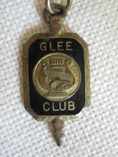 Vintage 1940's 1950's GLEE Club Charm by VintageByThePound on Etsy, $24.00