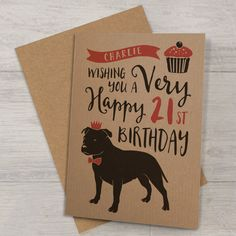 Personalised Birthday Card With Dog
