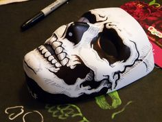 Halloween Decorations Spookadelic Ceramic Skull Candy Bowl