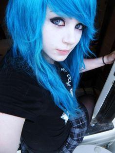 Emo blue.
