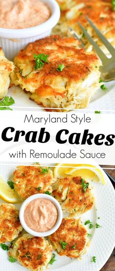Crab Cake Recipes, Fish Recipes, Seafood Recipes, Dinner Recipes, Cooking Recipes, Lump Crab Meat Recipes, Crab Cakes Recipe Best, Seafood Meals, Maryland Style Crab Cakes