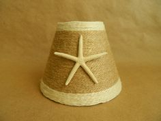 Jute Wrapped Chandelier Lampshades with Pencil Starfish Custom