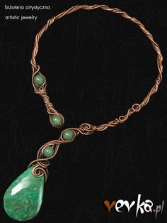 Materials: amazonite, aventurine, copper.