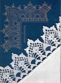Thread lace edgings--charts and diagrams