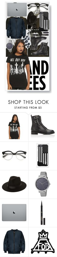 """""""Fall Out Boy #05"""" by johu734 ❤ liked on Polyvore featuring Hot Topic, Gianvito Rossi, Lack of Color, Skagen, L'Oréal Paris, WearAll and bandtees"""