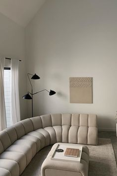 """Mouille designed his angular, insect-like lights as """"a reaction to the Italian models that were beginning to invade the market in 1950,"""" which he criticized for being """"too complicated."""" His large-scale Three-Arm Floor Lamp (1952) has a kinetic, sculptural aesthetic that evokes a sense of movement in space. All of the arms can be rotated in various directions, allowing for ample, well-directed lighting for any task. Dream Home Design, Home Interior Design, Interior Architecture, House Design, Living Room Decor, Living Spaces, Dream Apartment, Aesthetic Room Decor, Beige Aesthetic"""