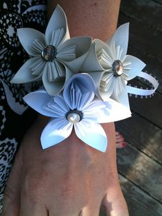 Origami corsage for sale  www.thecranefactory.etsy.com