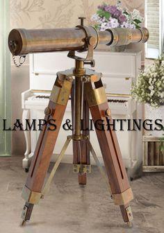 Maritime Telescopes Brass Monocular Maritime Vintage Gift Nautical Binocular Telescope Refreshment Maritime