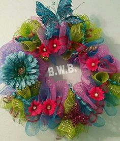 Hey, I found this really awesome Etsy listing at https://www.etsy.com/listing/232590004/summer-daisy-butterfly-wreath