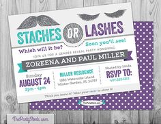 Gender Reveal Party Invitations: Printable by thepartystork