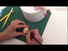 Passo passo Fragolina Dolce cuore in pasta di zucchero - YouTube