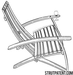 Lounge chair made from reclaimed wine barrel staves - Patent #