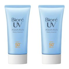 Biore Sarasara UV Aqua Rich Watery Essence Sunscreen SPF50  PA    50g (Pack of 2) *** You can find out more details at the affiliate link of the image. Beauty Skin, Health And Beauty, Asian Skincare, Best Sunscreens, Face Lotion, How To Get Rid Of Acne, Best Face Products, Beauty Products, Facial Skin Care