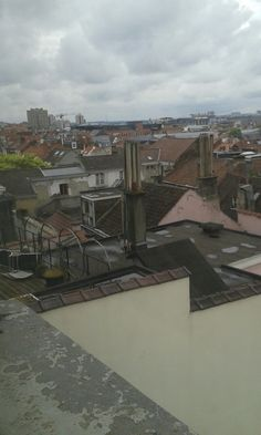 Brussels roofs from the Jewish Museum, sad and cloudy sunday...