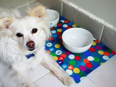 Sew DoggyStyle: DIY Fun Summer Placemat for Pet Bowls