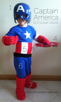 Easy diy captain america costume from a pair of sweats diy ideas captainamerica2 solutioingenieria