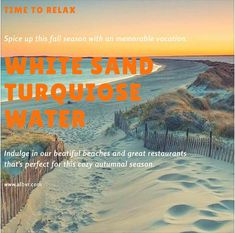 Crisp Salt Air, Crashing Waves, Deserted Beaches, & Golden Sunsets Autumn by the Sea! www.albvr.com