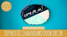 Geometric Chalkboard Door Decor - HGTV Handmade
