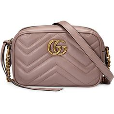 Gucci mini GG Marmont matelassé shoulder bag ($827) ❤ liked on Polyvore featuring bags, handbags, shoulder bags, grey, gucci shoulder bag, leather shoulder handbags, grey leather purse, gray leather handbags and mini purse