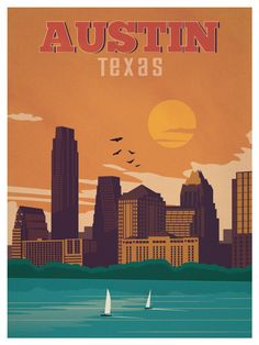 Travel Poster from IdeaStorm Austin Texas