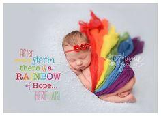 Newborn Wrap Rainbow Baby  Rainbow Set  by CelesteandCompany