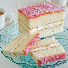 Jam and Coconut Cake